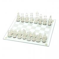 Шахматы стеклянные фигурки из стекла подарочные GJ02 Lucky Gamer