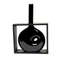 Ваза керамическая черная 09020-2