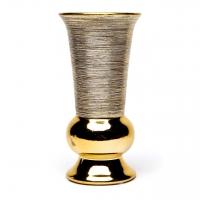 Ваза металлик золото малая узкая ВМЗ1-1 Decos