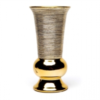 Ваза металлик золото малая узкая ВМЗ1-1
