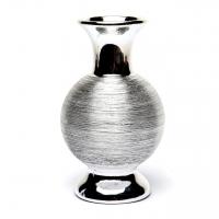 Кругла ваза срібляста ВМС1-2 Decos