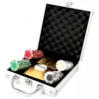 Покерний набір 100 фішок з картами Долари DM100D