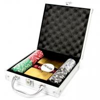 Покерный набор 100 фишек с картами Евро DM100E