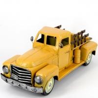 Модель ретро пикапа желтый 7171