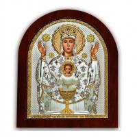 Икона Неупиваемая Чаша Богородицы EP3-041XAG/P Silver Axion