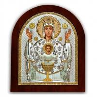 Икона Божией Матери Неупиваемая Чаша EP4-041XAG/P Silver Axion