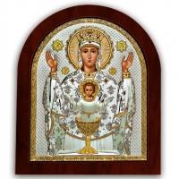 Икона Неупиваемая Чаша Божьей Матери EP5-041XAG/P Silver Axion