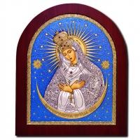 Икона Остробрамская Божией Матери EP5-067XAG/P/C Silver Axion