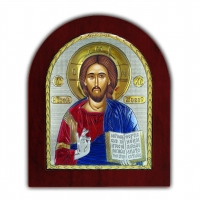 Икона Христа Спасителя EP3-001XAG/P/C Silver Axion
