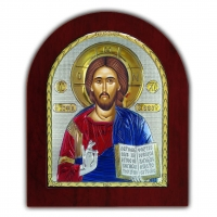 Икона Иисуса Христа Спасителя EP4-001XAG/P/C Silver Axion