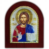 Икона Иисус Христос Спаситель EP5-001XAG/P/C Silver Axion