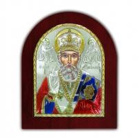 Икона Святой Николай EP3-009XAG/P/C Silver Axion