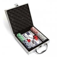 Покерный набор на 100 фишек в кейсе DM100 Lucky Gamer