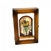 Ключниця настінна для будинку Квіти 05B-349 C