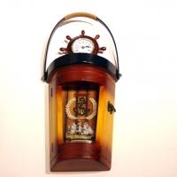 Ключница настенная часы со штурвалом морская тематика J29121C