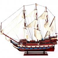 Велика модель парусного корабля з дерева Sun Felipe 110 см 100217
