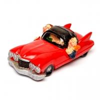Скарбничка для монет червона Автомобілісти XF004