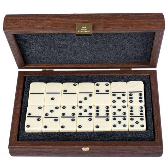 Домино элитное в подарочной деревянной коробке DDE20 Manopoulos