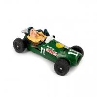 Копилка для монет гонщик на ретро автомобиле зеленый 3F8181