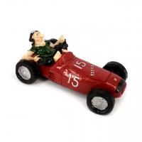Копилка для монет гонщик на ретро автомобиле красная 3F8201 Decos