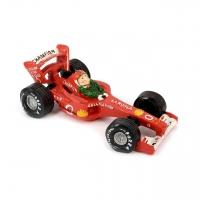 Копилка для монет гонщик на автомобиле формулы 1 Larossa красный 3F8202