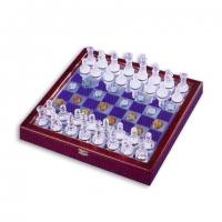 Шахматы из дерева и стекла большие