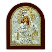Ікона Почаївська Богоматері EP3-066XAG/P Silver Axion