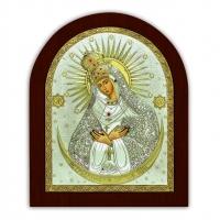 Икона Богоматери Остробрамская EP3-067XAG/P