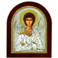 Икона Ангела Хранителя EP5-172XAG/P Silver Axion