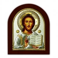 Икона Иисуса Христа EP3-181XAG/P Silver Axion