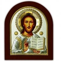Икона Иисус Христос Спаситель EP5-181XAG/P Silver Axion