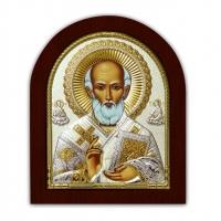 Икона Святого Николая EP2-183XAG/P Silver Axion