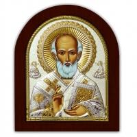 Икона Св. Николай Чудотворец EP4-183XAG/P Silver Axion