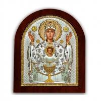 Икона Божией Матери Неупиваемая Чаша EP2-041XAG/P Silver Axion
