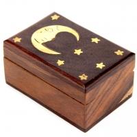 Деревянная шкатулка ручной работы Месяц WB106-2