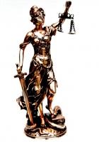 Статуэтка Фемида богиня правосудия T482