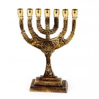 Єврейський свічник на 7 свічок менора 2141 Brasstico