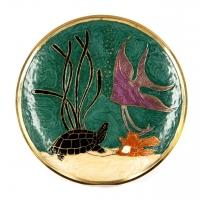 Тарілка декоративна настінна 2605F Brasstico