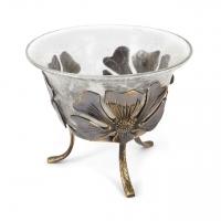 Стеклянная ваза для фруктов 4009