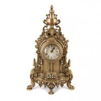 Часы каминные из бронзы настольные антикварные старинные 2572W
