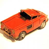Модель автомобиля Mersedes Мерседес Retro красный Decos