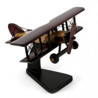 Модель старинного самолета биплана из дерева N1 Albero Ode