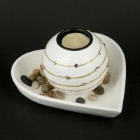 Декоративний свічник Серце GH184