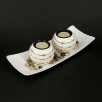 Декоративний підсвічник на 2 свічки прядив'яні GH186
