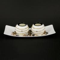 Декоративный подсвечник на 2 свечи пеньковые GH186 Decos