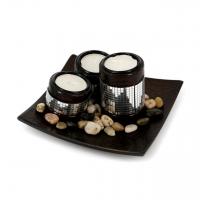Декоративный подсвечник на три свечи Y0511 Decos