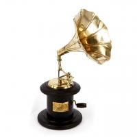 Сувенир Золотой граммофон мини AF144J