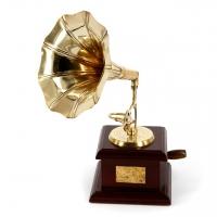 Сувенир статуэтка золотой Граммофон AF144M Brasstico