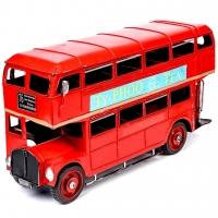Модель красного двухэтажного автобуса 1864 Decos