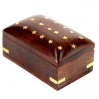 Шкатулка скринька з дерева Зірочки WB110-6